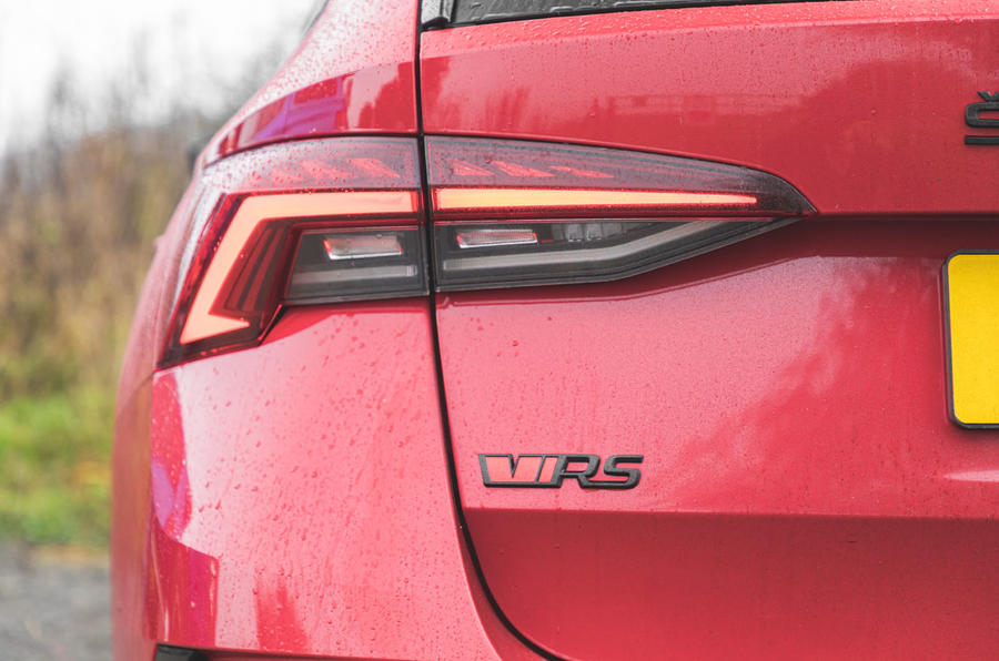 Skoda Octavia vRS iV 2020 UK First drive - rear badge
