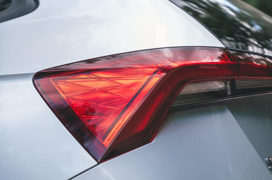 Skoda Scala 1.5 TSI SE 2019 UK first drive review - rear lights