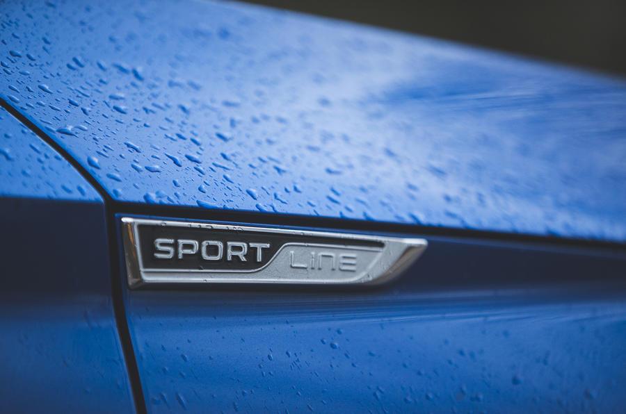 Skoda Superb Estate Sportline 2020 UK first drive review - side badge