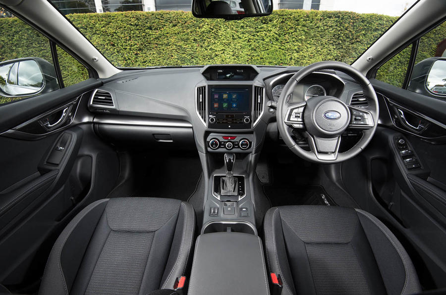 Subaru Impreza 2018 UK review dashboard