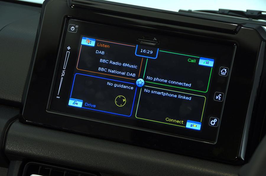 Suzuki Jimny 2018 UK first drive review - infotainment