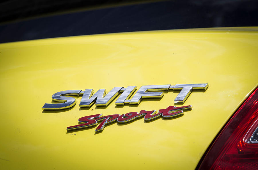 Suzuki Swift Sport 2018 long-term review boot badge