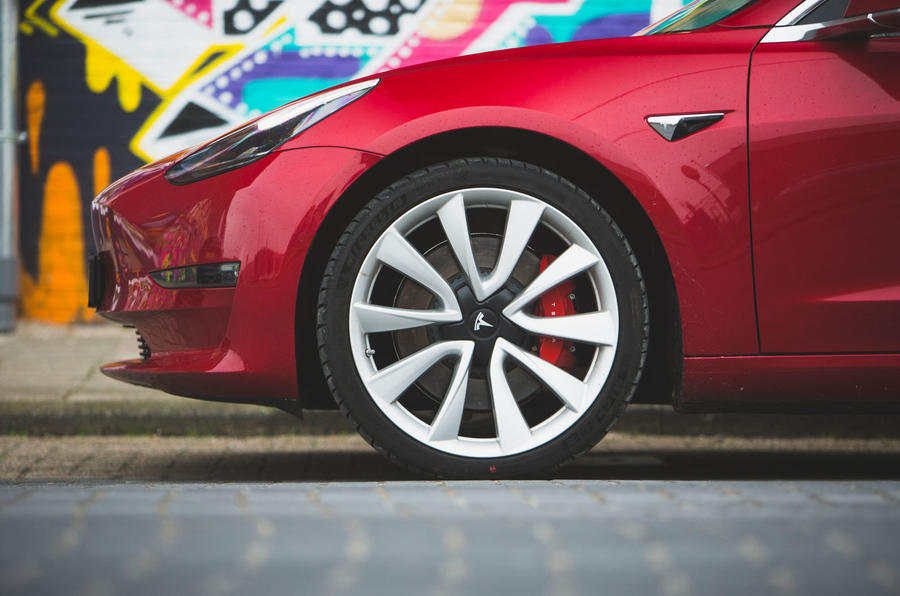 Tesla Model 3 Performance 2019 first drive review - alloy wheels