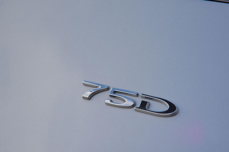 Tesla Model S 75D 2018 first drive review 75 badge