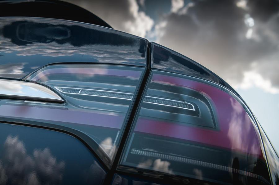 Tesla Model X Long Range 2019 UK first drive review - rear lights