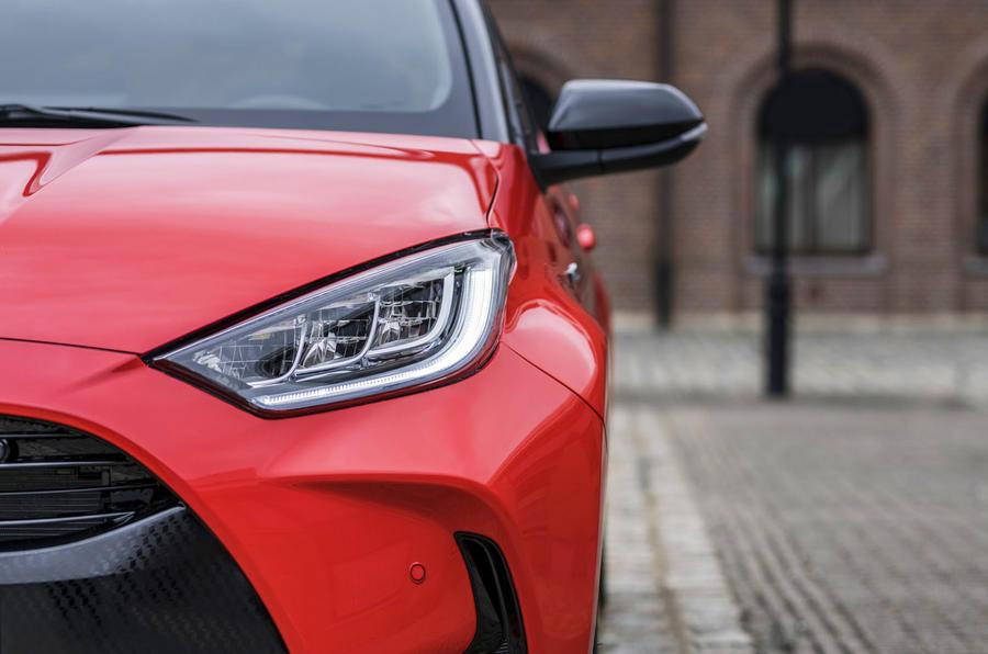 Toyota Yaris hybrid 2020 UK first drive review - headlights