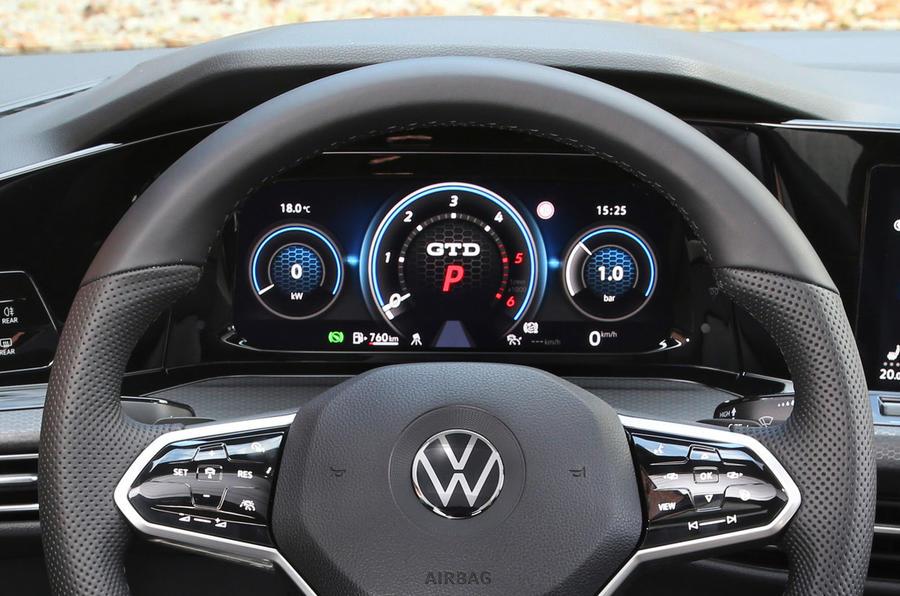 Volkswagen Golf GTD 2020 : premier examen de la conduite - instruments