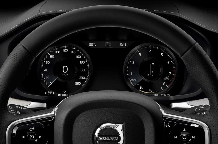 Volvo V60 2018 review instrument cluster