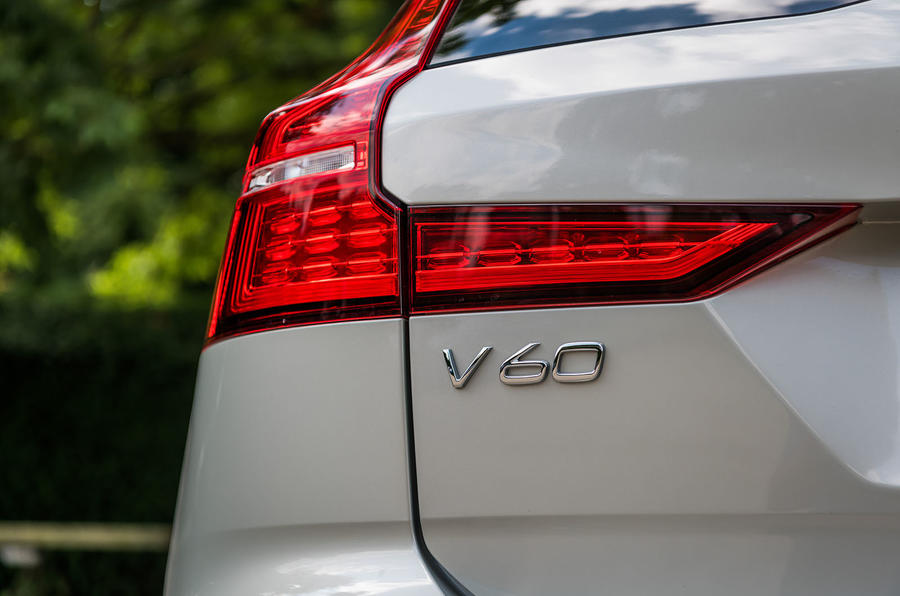 Volvo V60 D4 Inscription 2018 UK first drive review rear lights