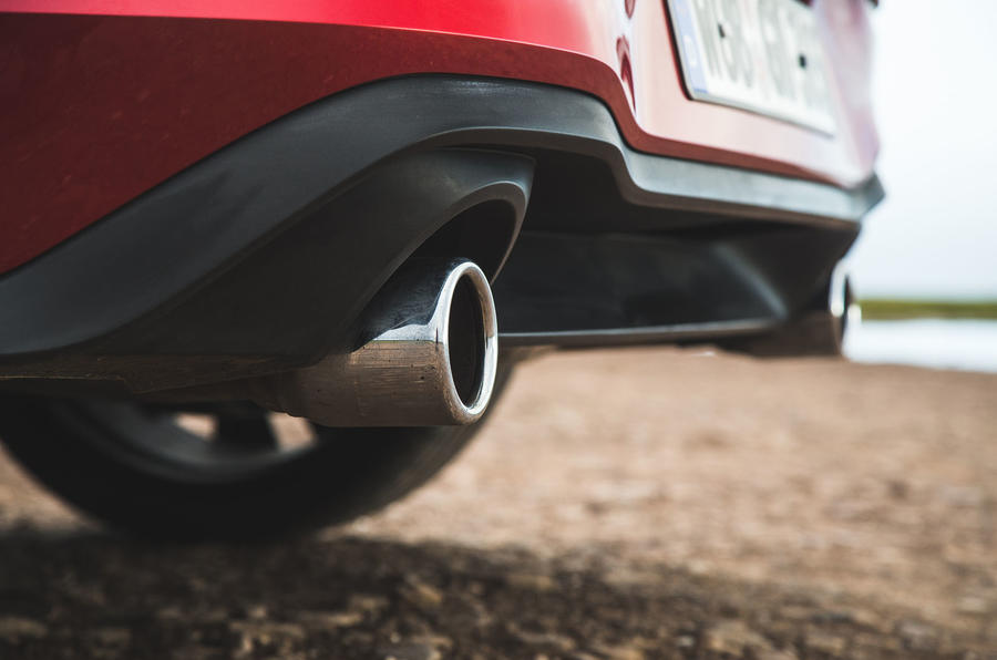Britain's best affordable drivers car 2020 - VW Golf GTI - exhausts