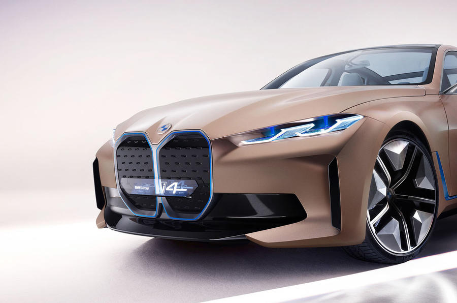 BMW i4 electric saloon shown in near-production form | Autocar