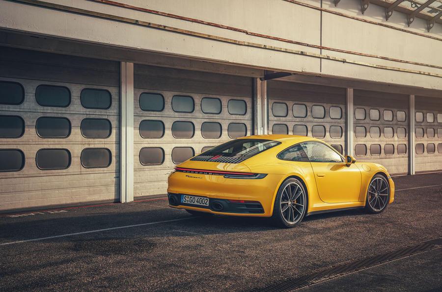 2019 Porsche 911 Carrera S track drive - static rear