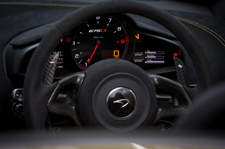 McLaren 675LT instrument cluster