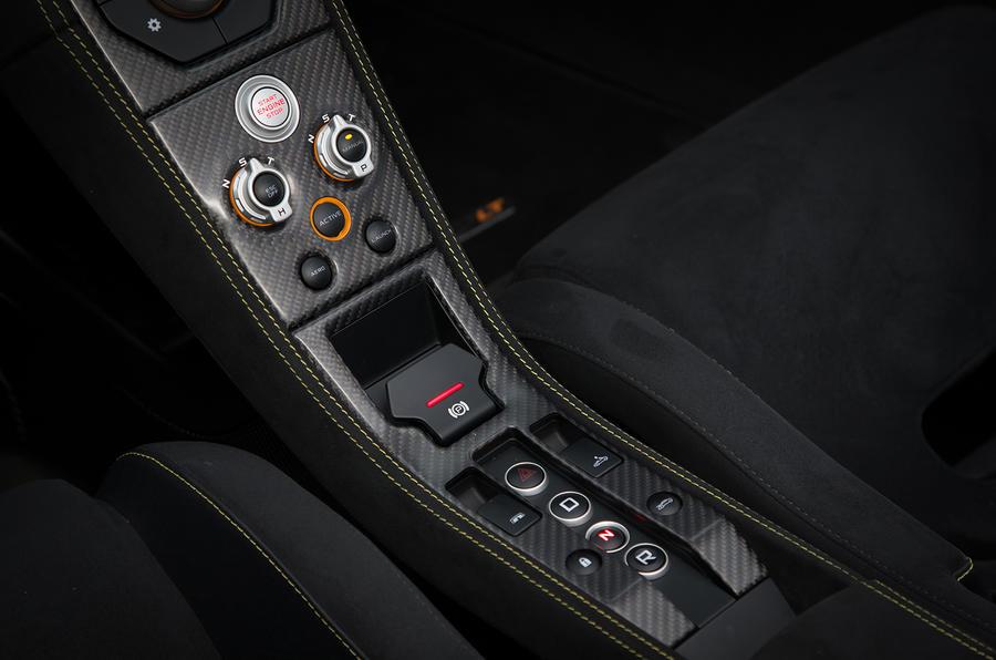 McLaren 675LT centre cluster