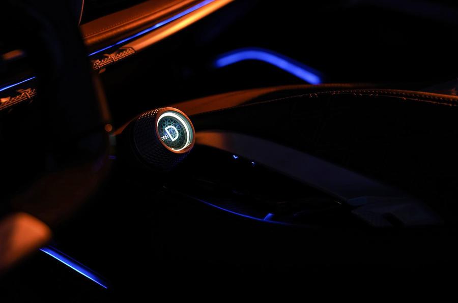 Pininfarina Battista 2019 first drive review - drive select at night