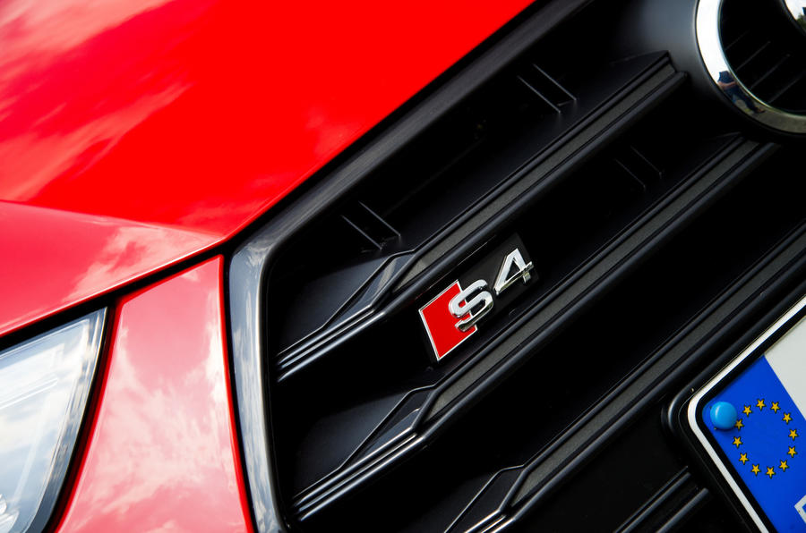 Audi S4 front grille badging