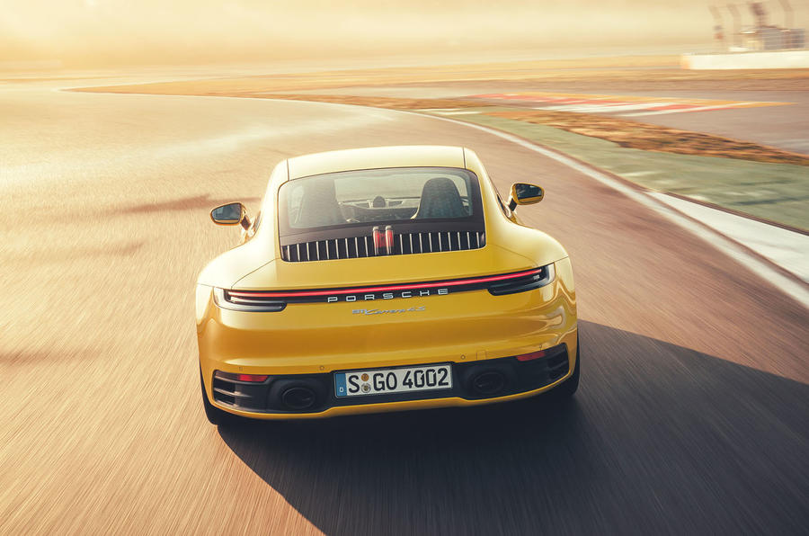 2019 Porsche 911 Carrera S track drive - track rear end