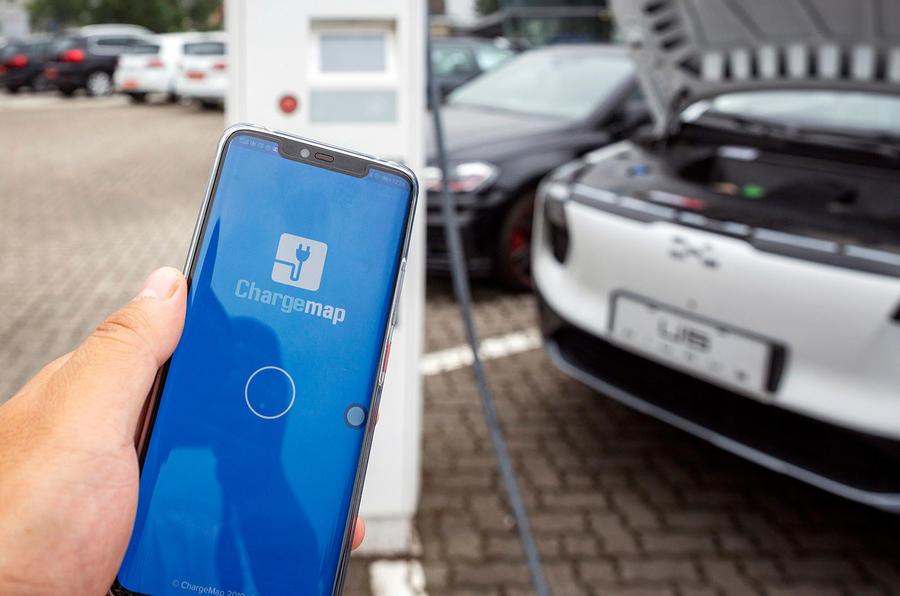 Aiways U5 2019 prototype drive review - charging app