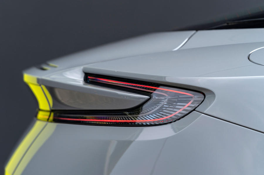 Aston Martin DB11 AMR 2018 review rear lights