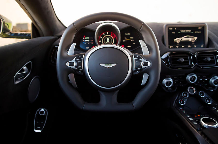 Aston Martin Vantage driving position