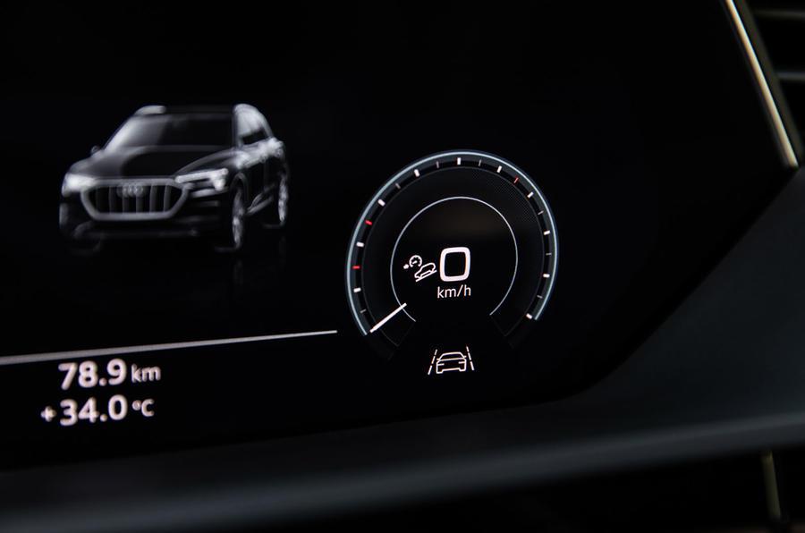 Audi e-Tron 2019 prototype first drive review - tacho