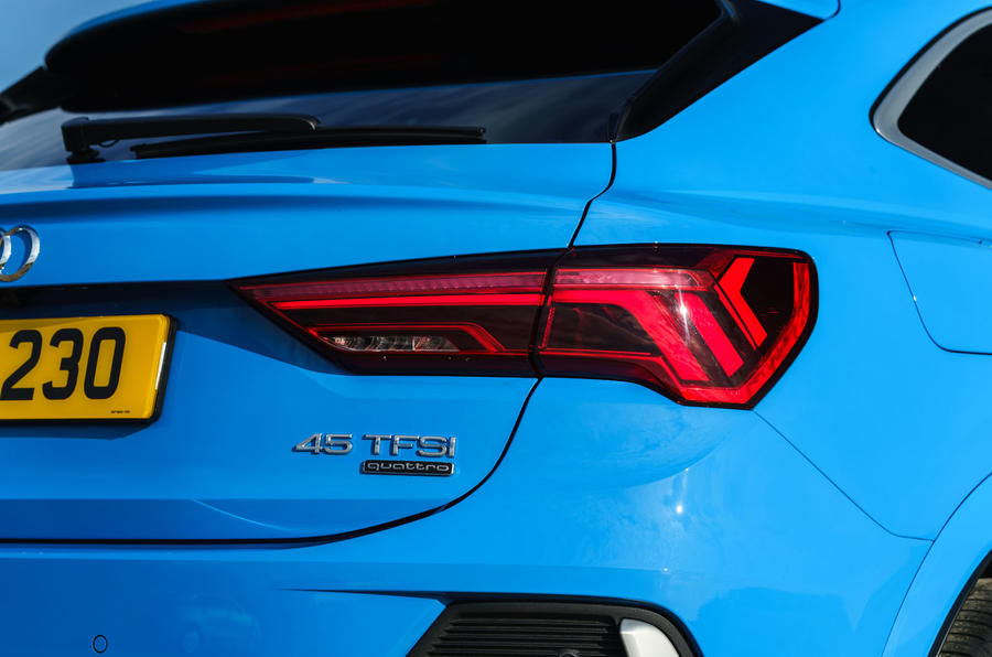 Audi Q3 Sportback 2019 UK first drive review - rear lights