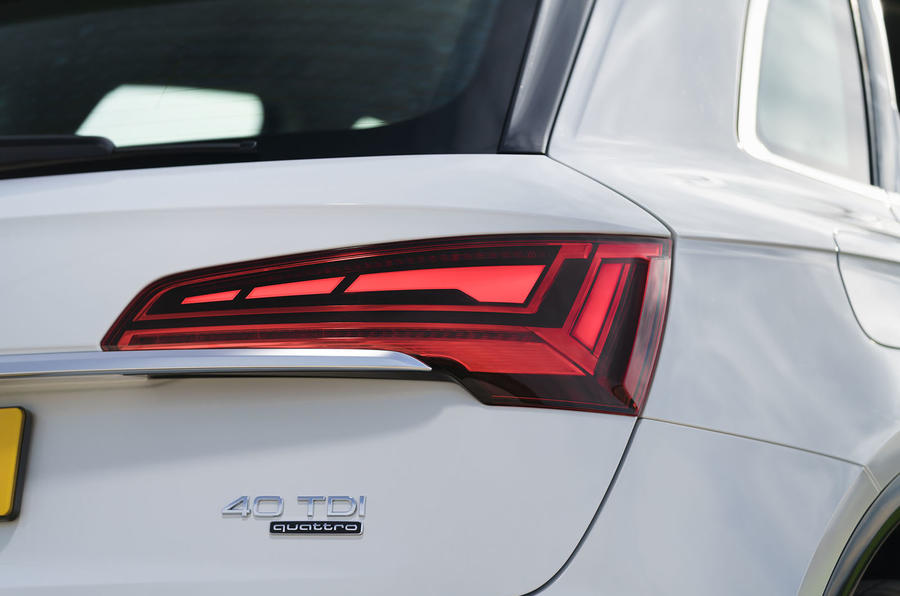 Audi Q5 40 TDI Sport 2020 UK first drive review - rear lights