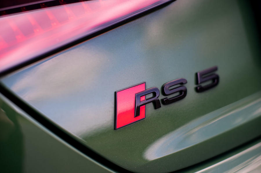Audi RS5 Sportback 2019 first drive review - rear badge