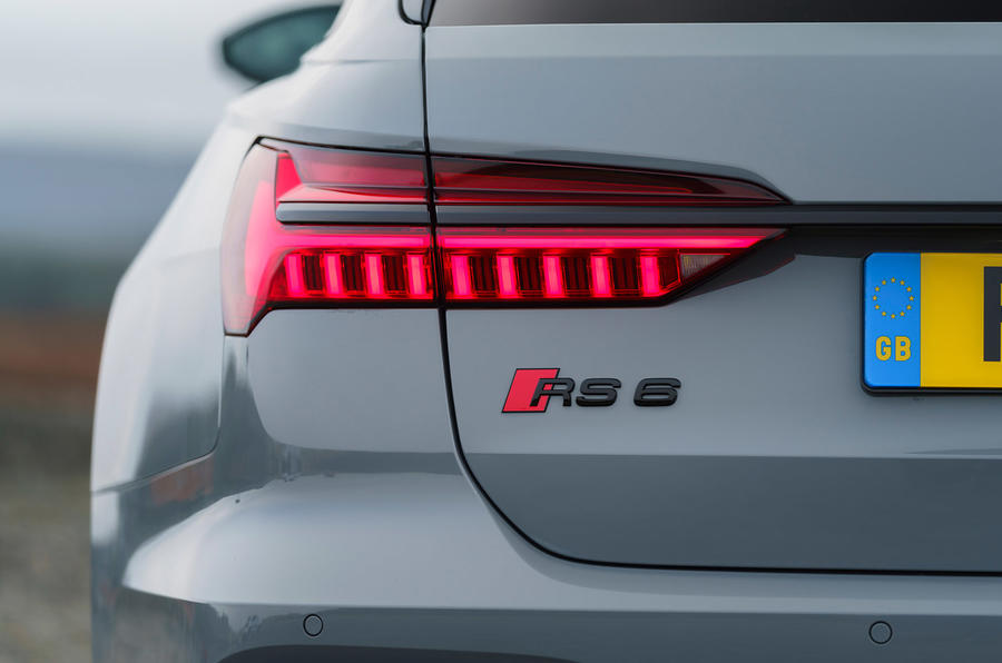 Audi RS6 2020 UK first drive review - rear lights