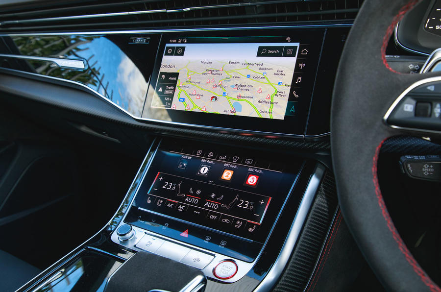 Audi RS Q8 2020 UK first drive review - infotainment