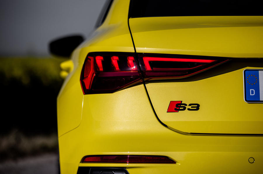 Audi S3 Sportback 2020 first drive review - rear lights