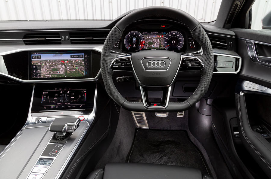 Audi S6 Avant TDI 2019 UK first drive review - dashboard