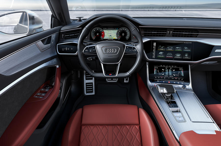 Audi S7 TDI 2019 first drive review - steering wheel