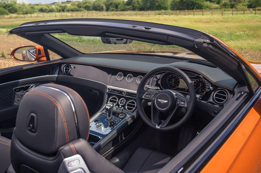 Bentley Continental GT Convertible V8 2020 UK first drive review - cabin