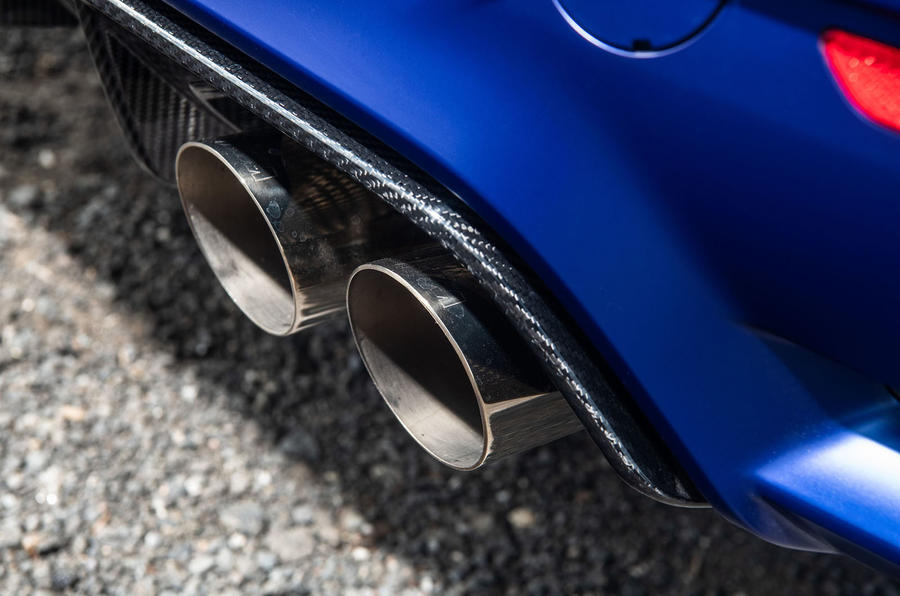 BMW M3 CS 2018 review exhaust
