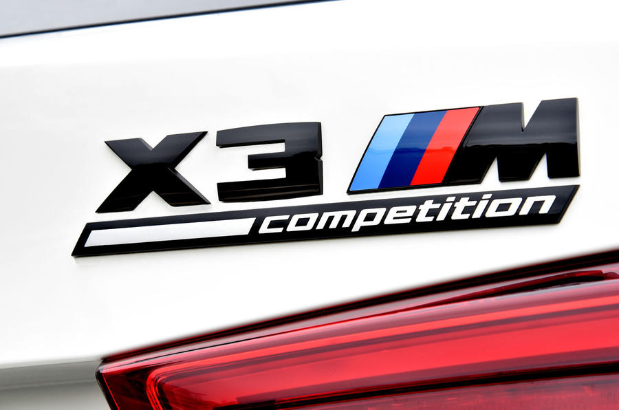 BMW X3 M Competition 2019 first drive review - rear badge