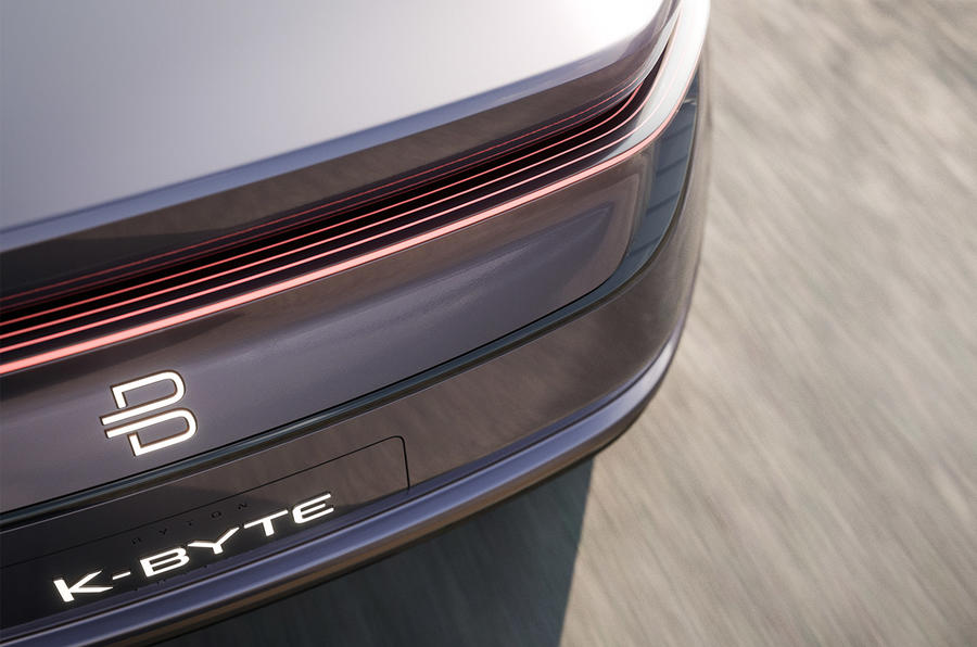 Byton K-Byte saloon concept rear lights