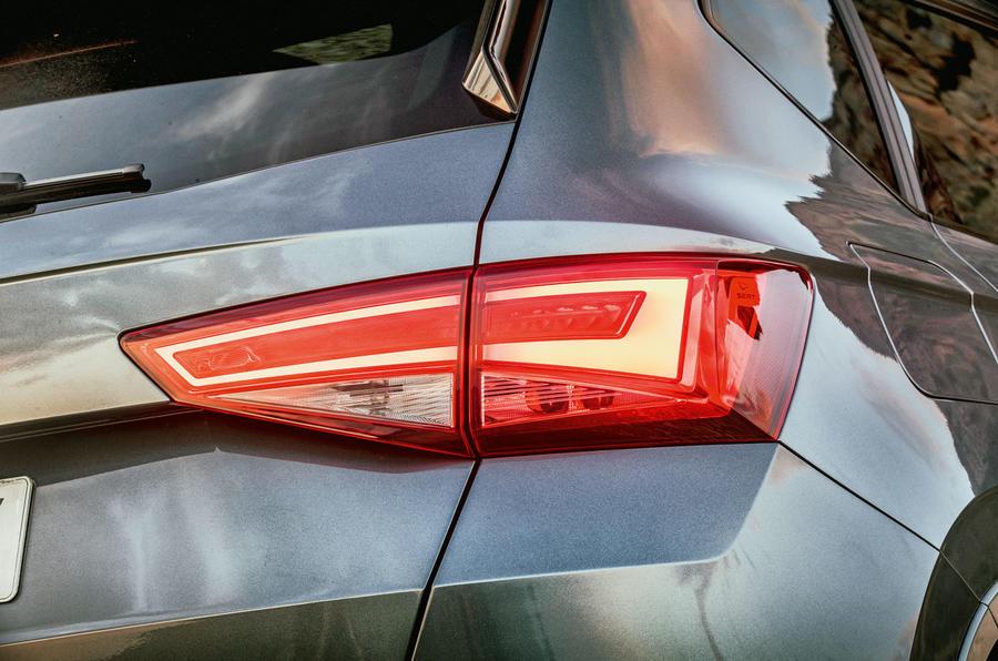 Cupra Ateca 2018 first drive review - rear lights