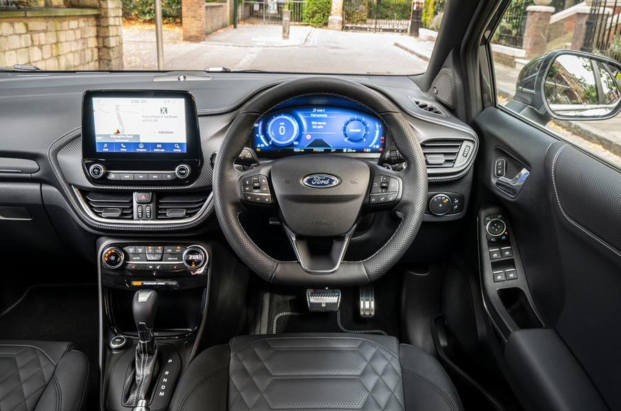 Ford Puma Vignale 2020 UK first drive review - steering wheel