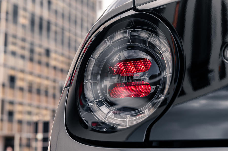Honda e 2020 UK first drive review - rear lights