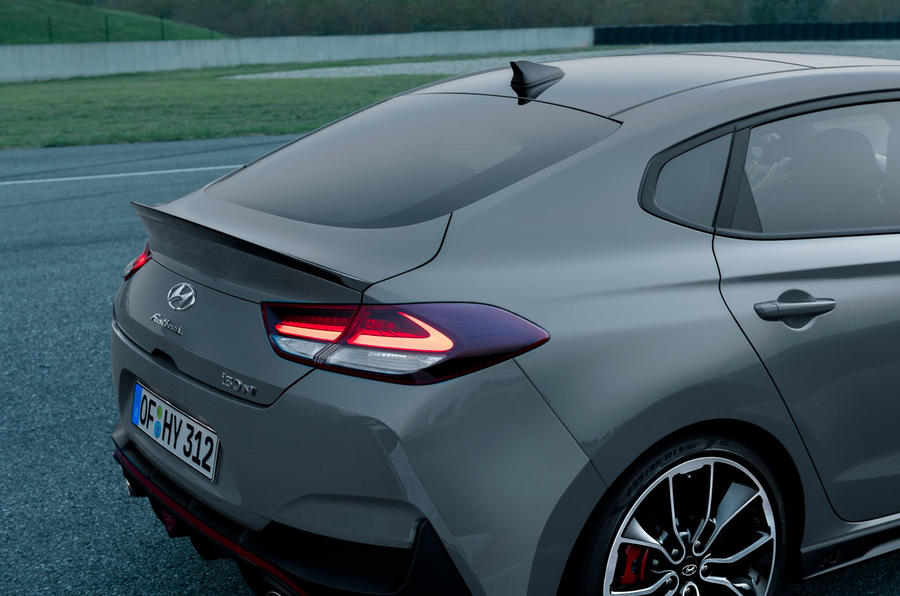 Hyundai i30 Fastback N 2019 first drive review - rear lights