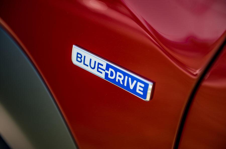 Hyundai Kona EV prototype drive 2018 Blue drive badge