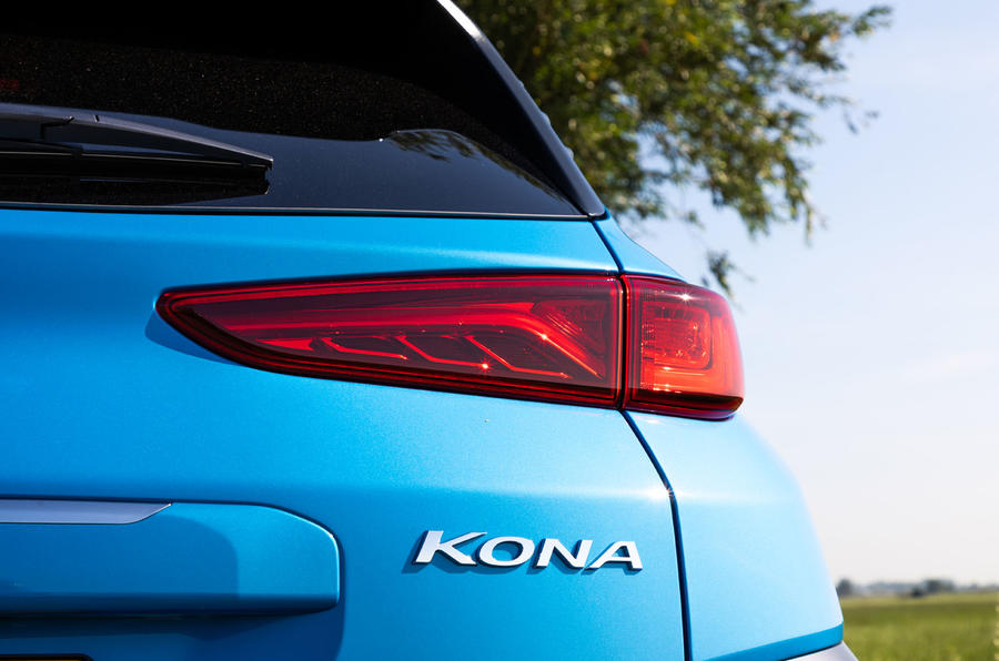 Hyundai Kona Hybrid 2019 first drive review - rear lights