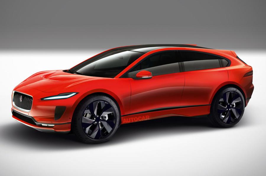 Jaguar J-Pace render 2021 - static front