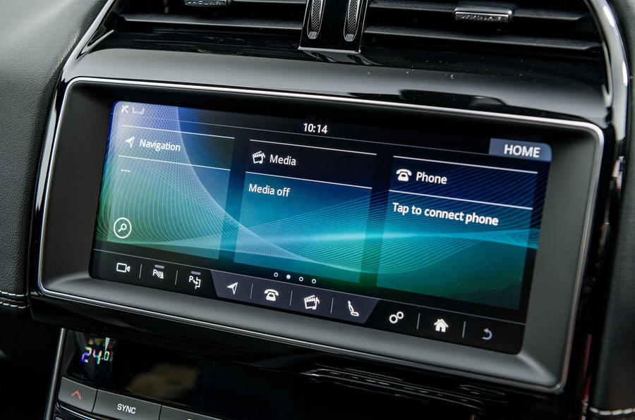 Jaguar XE 20t 2018 UK first drive review - infotainment display
