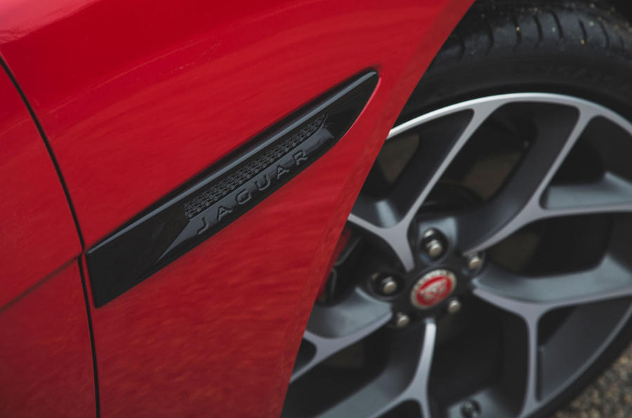 Jaguar XE P300 2019 first drive review - front wing
