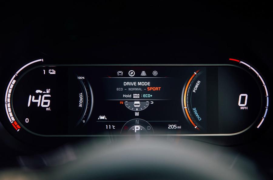 Kia Soul EV 2020 : premier bilan de la campagne britannique - instruments