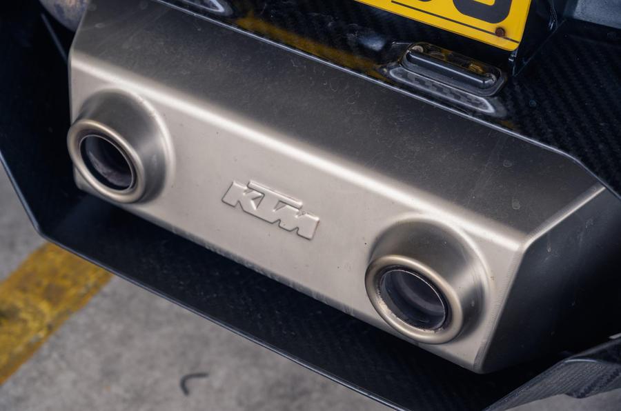 KTM Xbow Darkside developments demonstrator - exhausts