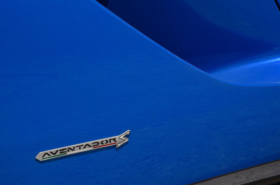 Lamborghini Aventador S 2018 first drive review badge