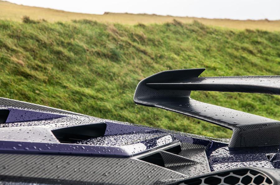 Lamborghini Aventador SVJ 2018 UK first drive review - spoiler